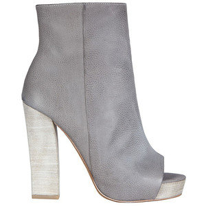 Love this gray booties