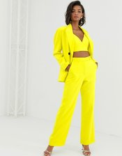 ASOS EDITION high waist mansy suit pants-Yellow