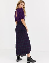 Rahi cher check maxi dress-Purple