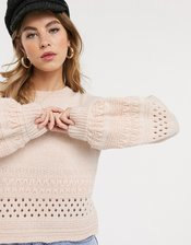 Miss Selfridge sweater in pink
